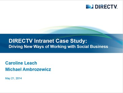 DIRECTV Intranet Case Study Slide
