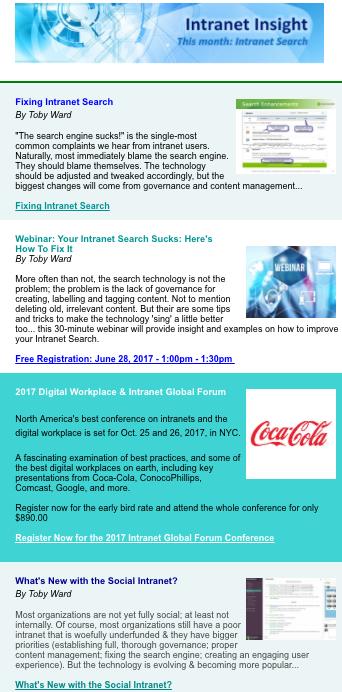 Intranet Insight Newsletter