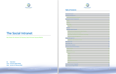 Social Intranet White Paper Table of Contents