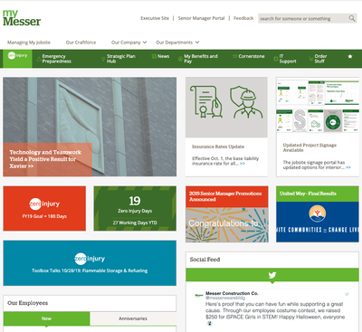 Messer Construction Intranet Home