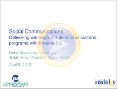 Social communications screenshot
