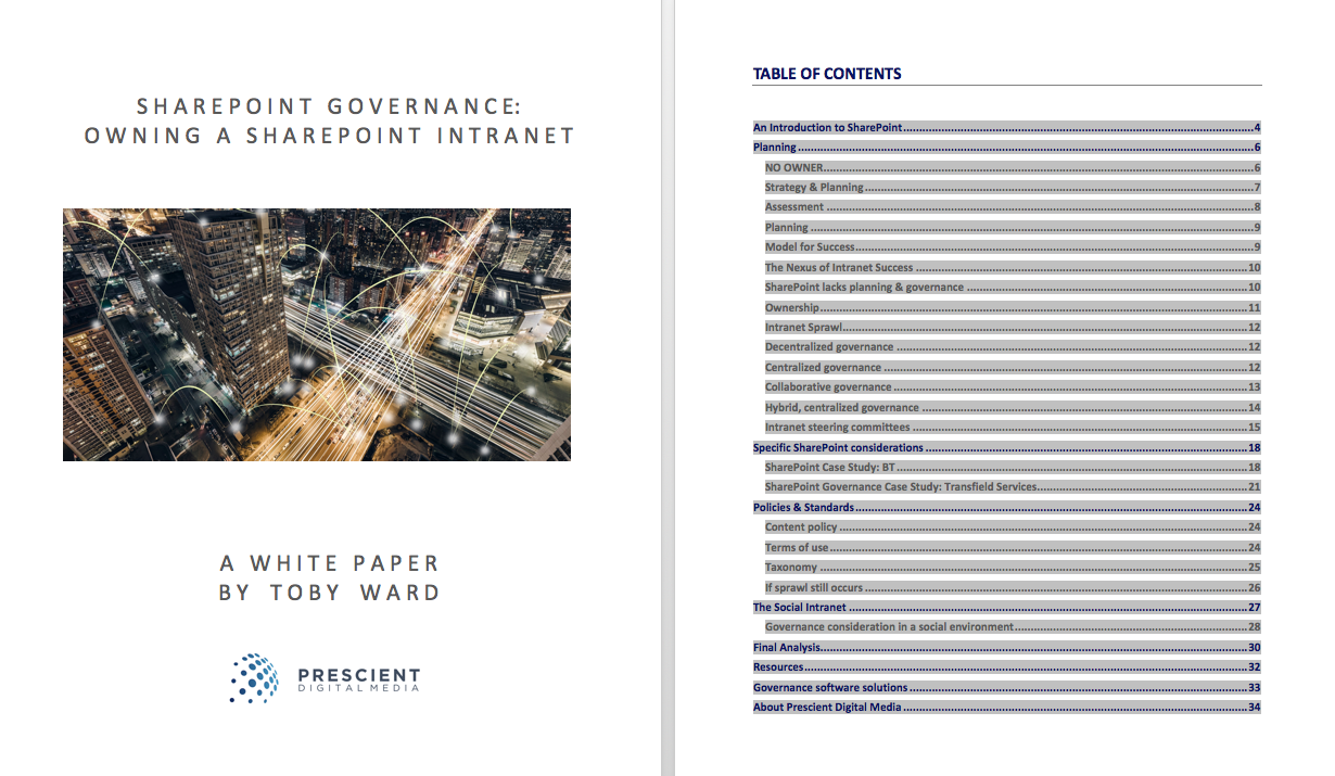 SharePoint Governance TOC