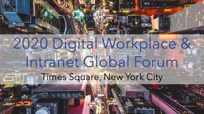 2020 Digital Workplace & Intranet Global Forum