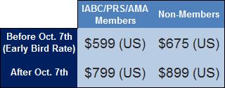 IGF - conf. only pricing