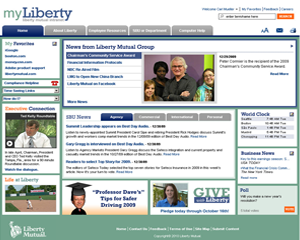 Liberty Mutual intranet design