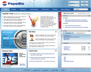 Pepsi intranet design