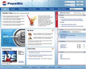 Pepsi intranet design