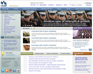 USAA intranet design
