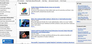 Microsoft Best of the Web 2005 1