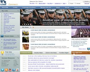 USAA intranet design